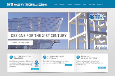 STINA's HSS Standalone Website Homepage.  (PRNewsFoto/Steel Tube Institute of North America)