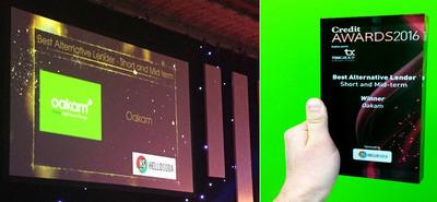Oakam's wins the Credit Today Award for the Best Alternative Lender