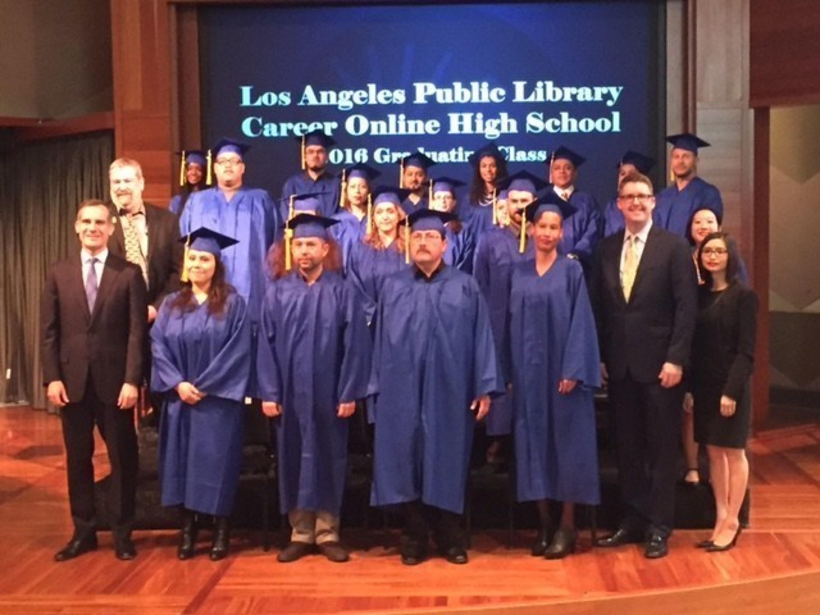 First Graduating Class Receives Diplomas and Career Certificates through Innovative Program at Los