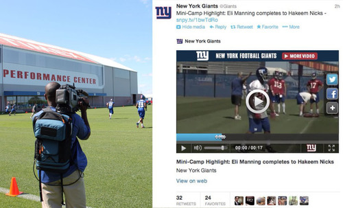 LiveU and SnappyTV Partner for Real-Time Video Social Publishing - NY Giants utilizing the new streamlined way ...