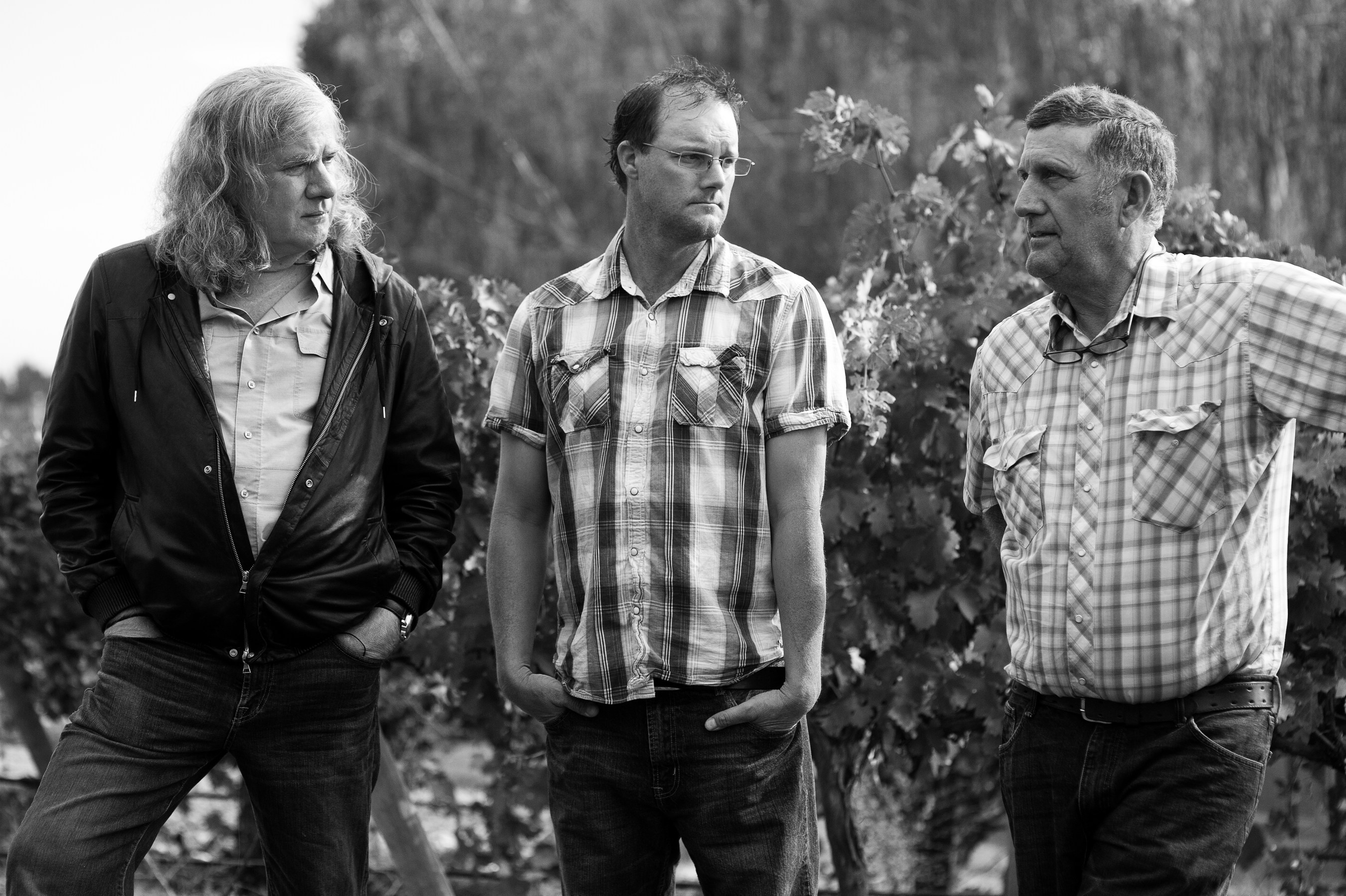 (L-R): Chris Upchurch, Executive Winemaker & Co-Founder of DeLille Cellars; Todd Newhouse, Harrison Hill ...