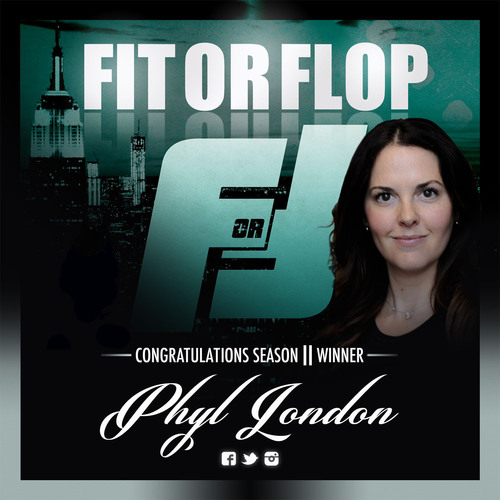 Phyl London, Master Trainer, Officially Crowned Fit or Flop Season II Winner.  (PRNewsFoto/Apogee Media)