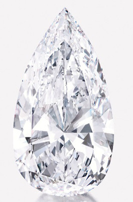On offer: Sotheby's New York Annual Spring Auction of Magnificent Jewels on April 17, 2013 will showcase a 74.79 carat, D, VVS1, potentially flawless, type IIa pear-shaped diamond with a pre-sale estimate of $9 million to $12 million.  (PRNewsFoto/Diamond Capital Fund)