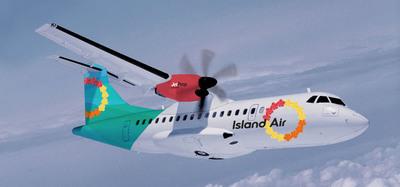 ISLAND AIR'S ATR 42 JET PROP AIRCRAFT.  (PRNewsFoto/Island Air)