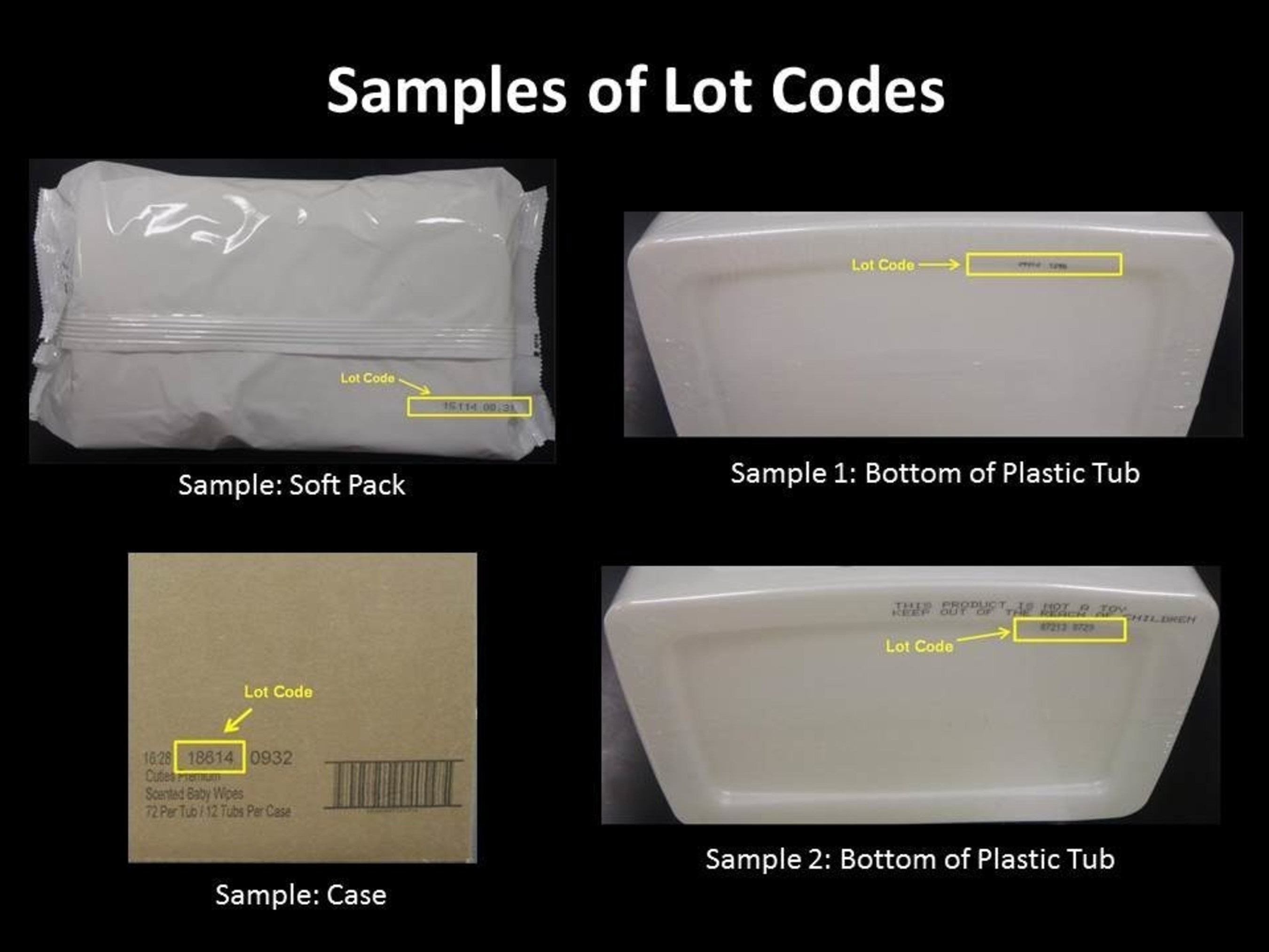 Samples of Lot Codes