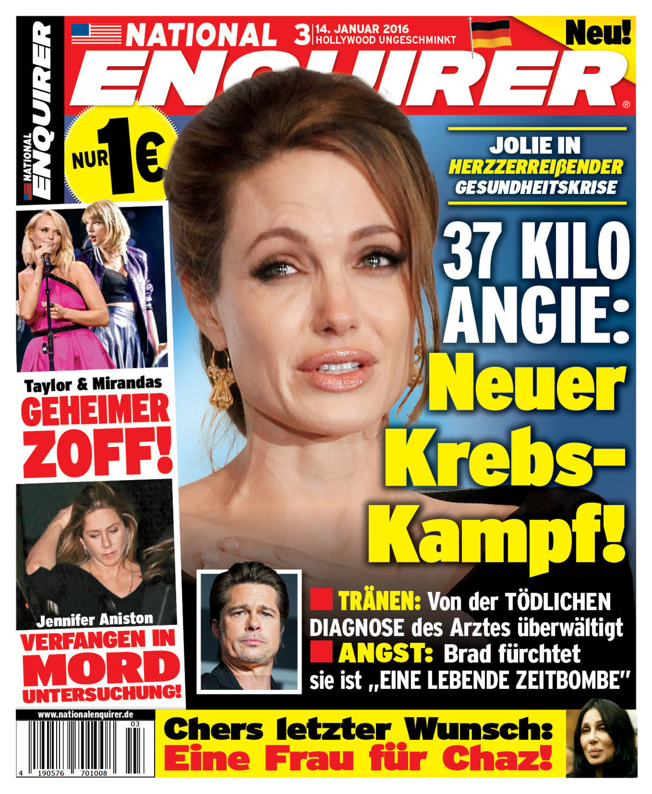 National Enquirer German Edition Cover