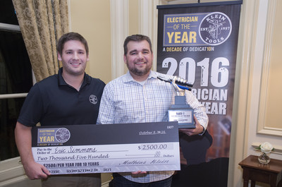 Klein Tools congratulates Eric Simmons as the 2016 Electrician of the Year.