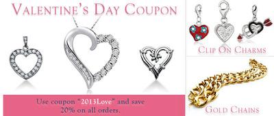 Valentine's Day Jewelry Coupon.  (PRNewsFoto/JewelryAffairs)