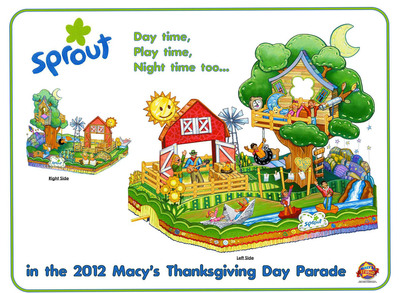 24-hour preschool television channel Sprout(R) is set to take to the streets of New York City with its new float in the 86th Annual Macy's Thanksgiving Day Parade(R).  (PRNewsFoto/Macy's)