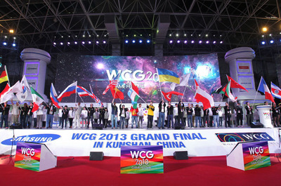 Grand Opening of World Cyber Games 2013 Grand Final in Kunshan, China Today! (PRNewsFoto/World Cyber Games) (PRNewsFoto/WORLD CYBER GAMES)
