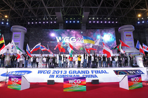 Grand Opening of World Cyber Games 2013 Grand Final in Kunshan, China Today! (PRNewsFoto/World Cyber Games) ...