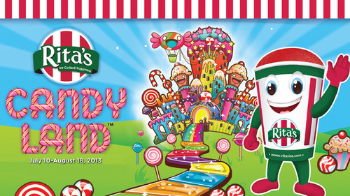 Rita's Italian Ice Begins Candy Land(TM) Collect And Win Game Today!  (PRNewsFoto/Rita's Franchise Company)