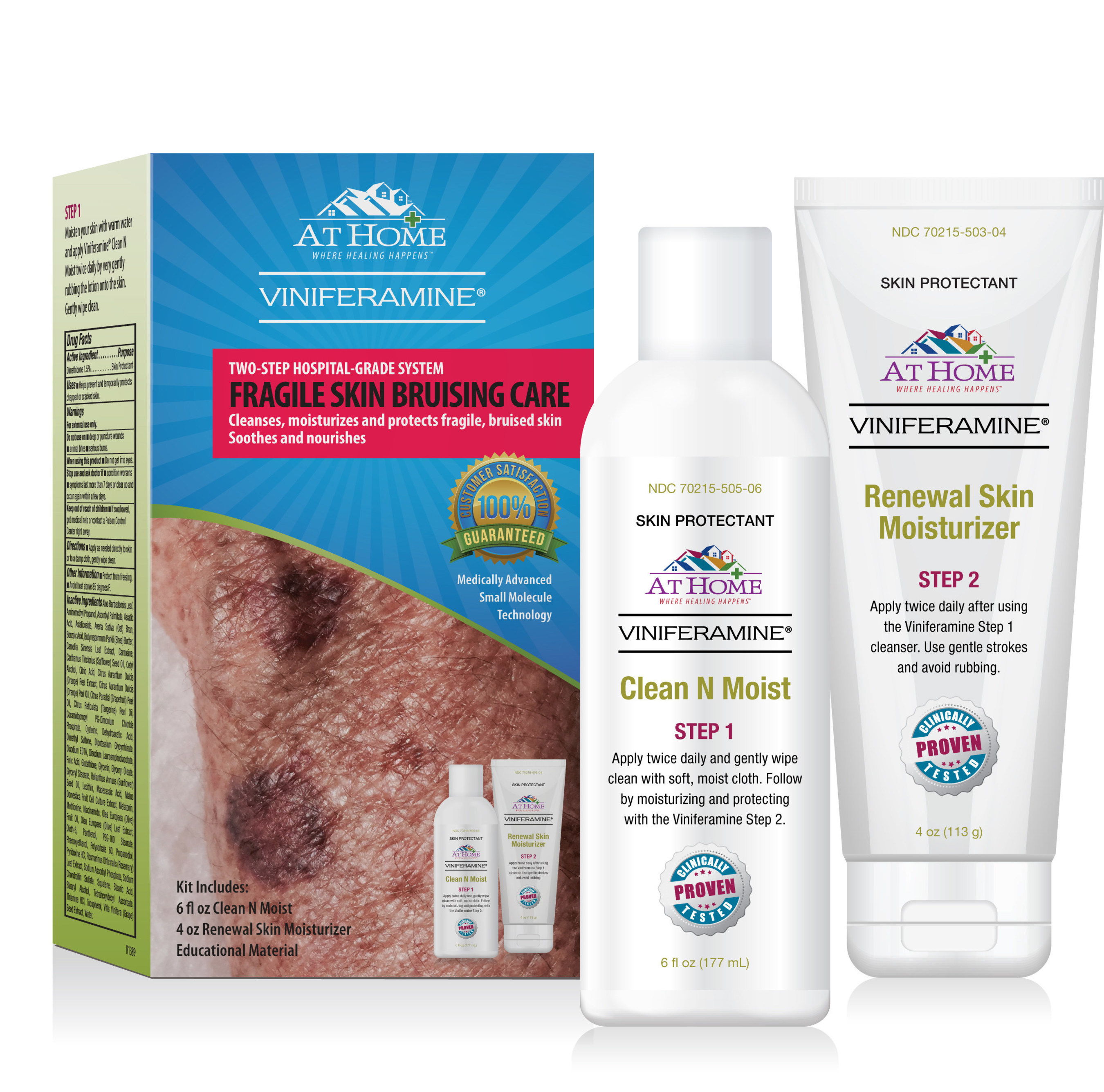 At Home(TM) Viniferamine(R) skin care kits were created by D. Elizabeth McCord PhD, FAPWCA with the idea of helping family caregivers provide quality, hospital-grade skin care to their loved ones at home.
