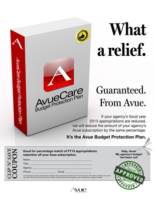 Avue Technologies 'Budget Protection Plan': We Will Match Any Agency Budget Cuts
