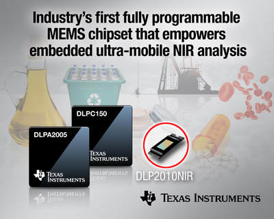 Texas Instruments announces the industry's first fully programmable MEMS chipset to empower embedded ultramobile near-infrared analysis.