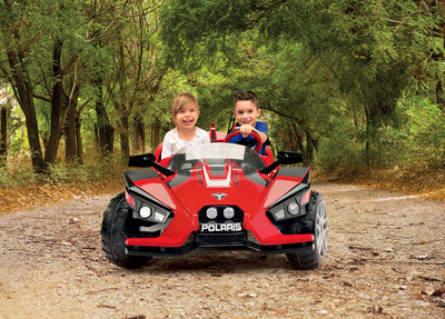 Peg Perego Launches New 12volt Polaris Slingshot, unit will be made in the USA.