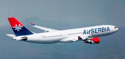 Air Serbia's A330 heads to New York
