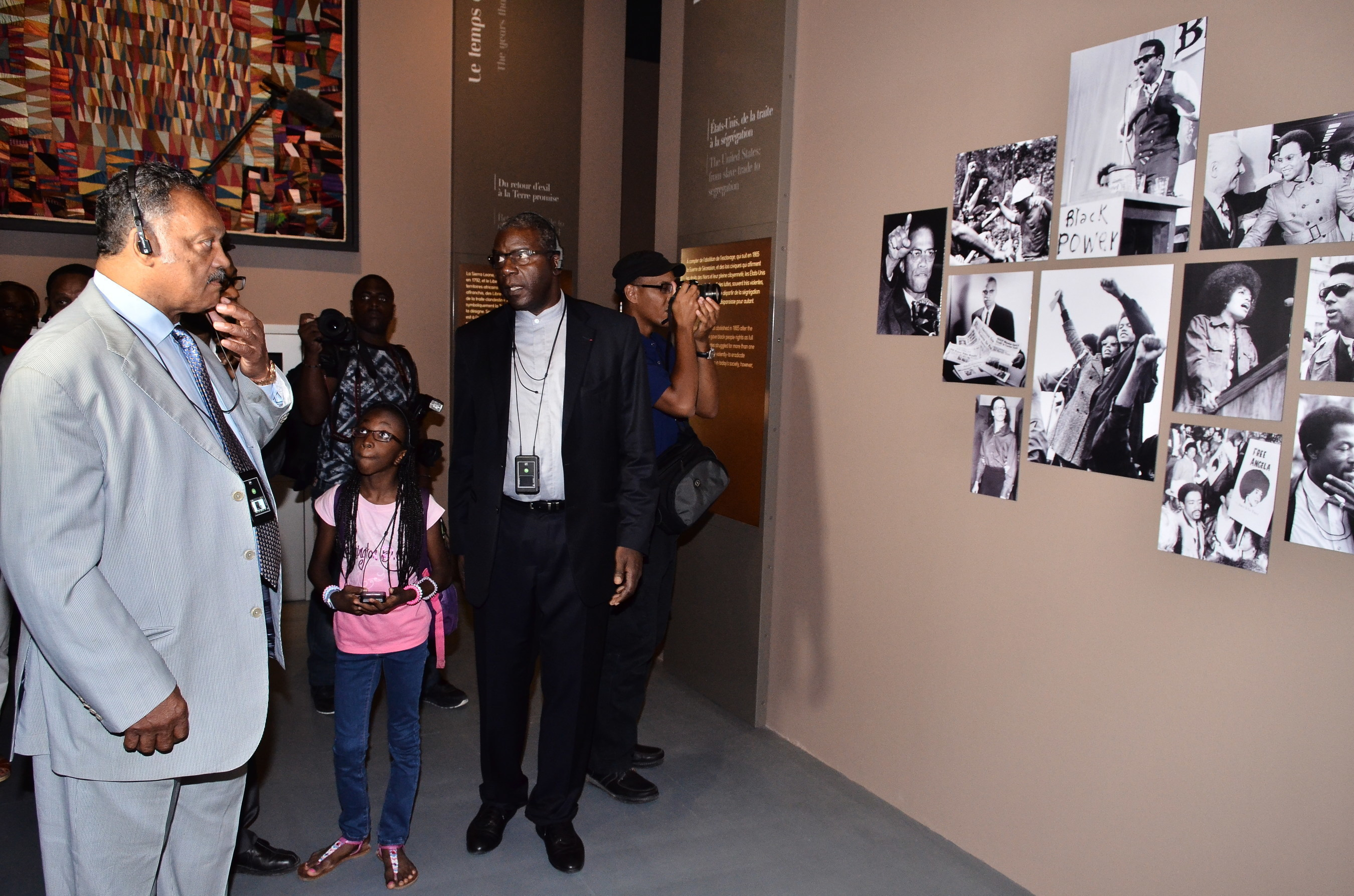Jesse Jackson touring the Memorial ACTe in the Guadeloupe Islands