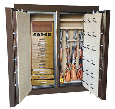 Customers can visit the Houston showroom to see hundreds of large and small gun safes and vault products.
