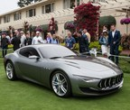 Alfieri on Pebble Beach Concept lawn (PRNewsFoto/Maserati North America, Inc.)