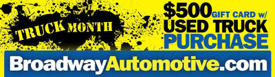 Broadway Automotive is celebrating Truck Month in October.  (PRNewsFoto/Broadway Automotive)