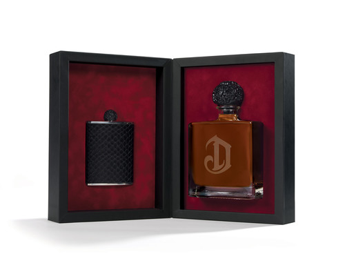 DeLeon Tequila's new reserve, Leona, presented with a limited edition python flask.  (PRNewsFoto/DeLeon ...