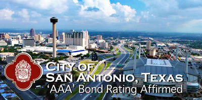 San Antonio AAA Bond Rating Affirmed Again By Standard & Poor's, Fitch, Moody's.  (PRNewsFoto/City of San Antonio)