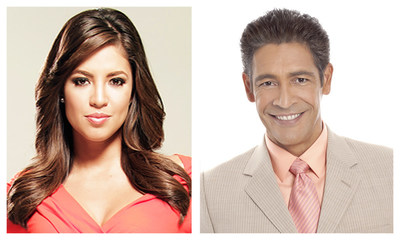 "Co-Hosts of the 2016 NAMIC Annual Awards Breakfast, Pamela Silva Conde, co-anchor of Univision's ""Primer Impacto"" and Johnny Lozada, co-host of Univision's ""Despierta America."" The NAMIC Breakfast is scheduled for May 18, 2016 at the Boston Convention and Exhibition Center as part of INTX: The Internet & Television Expo. http:namic.com"