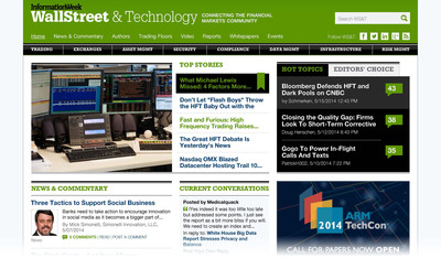 WallStreetandTech.com: the Only Community for Financial Markets Technologists