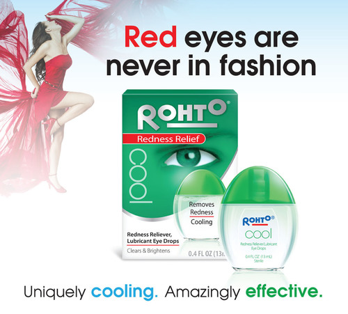 The Rohto(R) Cooling Eye Drops collection not only clears and soothes your eyes, but also leaves the eyes looking bright and feeling refreshed. Rohto(R) Cooling Eye Drops are a must-have addition to your beauty routine and to look your best during Fashion Week. Uniquely Cooling - Amazingly Effective. Visit www.myrohto.com for more details.  (PRNewsFoto/The Mentholatum Company)