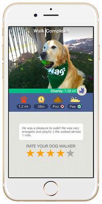 "On-demand dog walking app Wag! gives dog owners a GPS-enabled ""pee"" and ""poop"" report to mark where their pooch did its business."