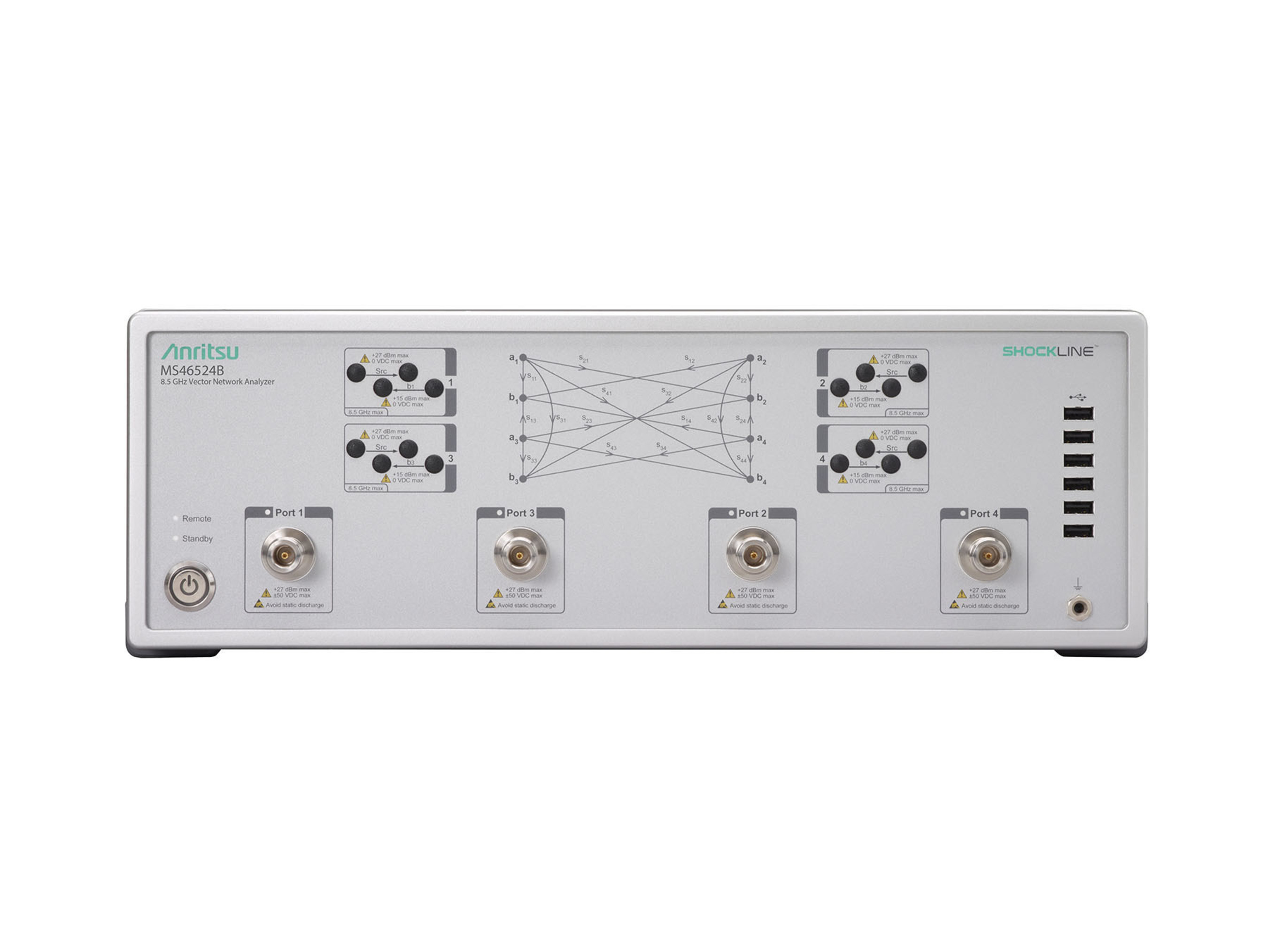 Anritsu Company expands its ShockLine(TM) family of affordable vector network analyzers (VNAs) with the introduction of the Performance ShockLine MS46500B series that delivers an unprecedented level of value and performance, including best-in-class dynamic range and maximum output power.