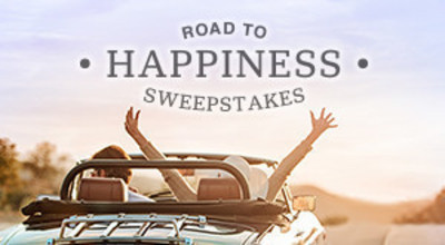 Enter the Road to Happiness Sweepstakes at www.roadtohappysweeps.com