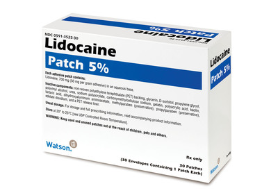Actavis' Lidocaine Topical Patch 5%.(PRNewsFoto/Actavis, Inc.)