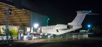 An XOJET Challenger 300 was the site of artist Steve Roden's soundscape @ the VIP Preview of Art Platform-Los Angeles.  (PRNewsFoto/XOJET)