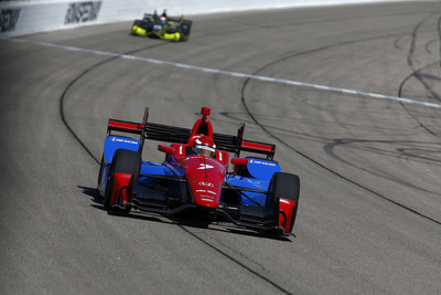Mikhail Aleshin took his Honda to the pole Saturday in qualifying for Sunday's ABC Supply Co Inc Pocono 500.