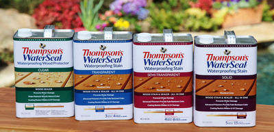 New Thompson's WaterSeal Waterproofing Stain is easier to choose and easier to use.  (PRNewsFoto/Thompson's WaterSeal)