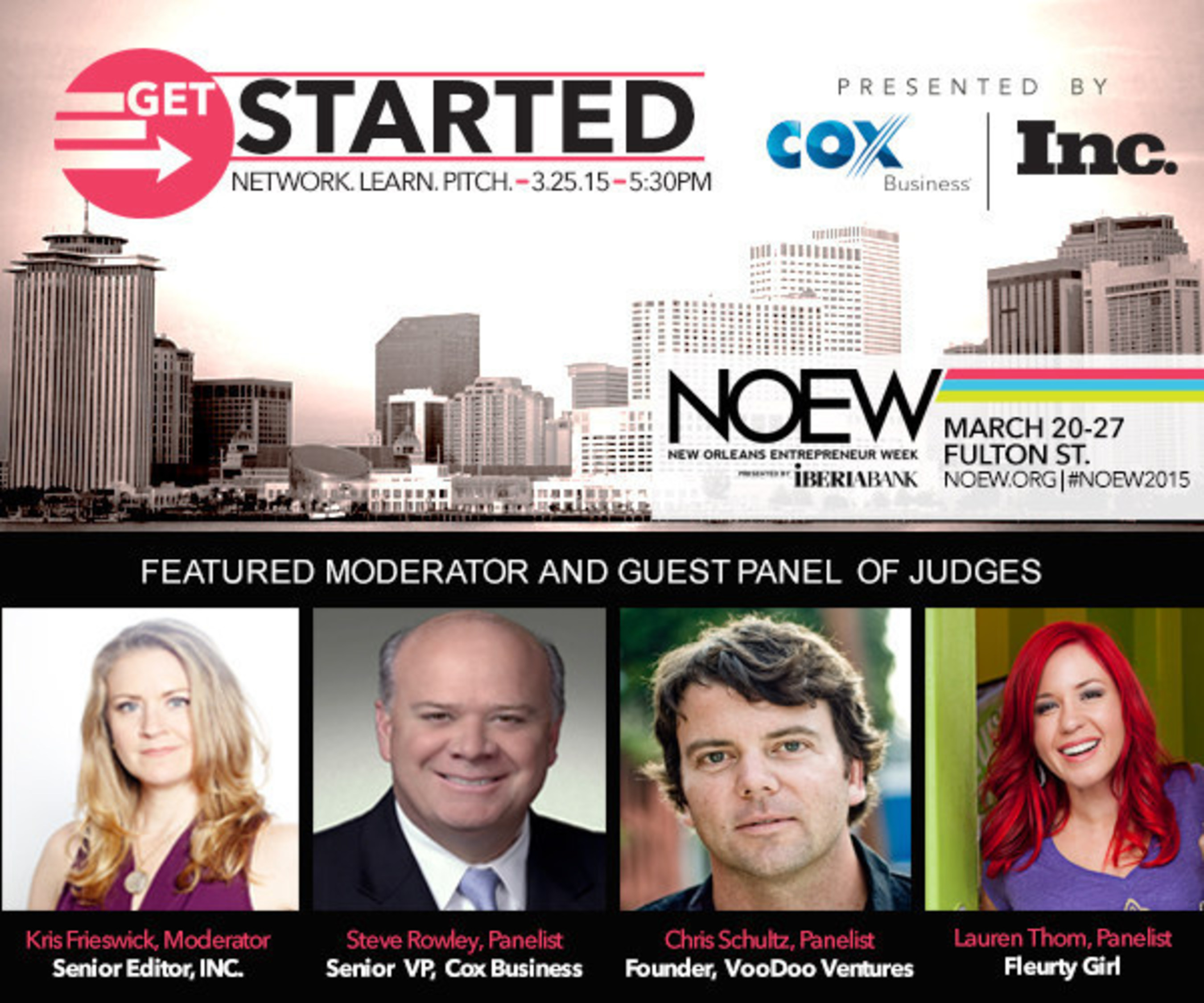 Cox Business and Inc. Magazine Call for Contestants at Get Started NOLA