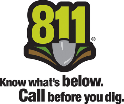 The 811 logo will be featured prominently at Kentucky Speedway this year as a reminder for fans to call 811 before they dig.  (PRNewsFoto/Common Ground Alliance)