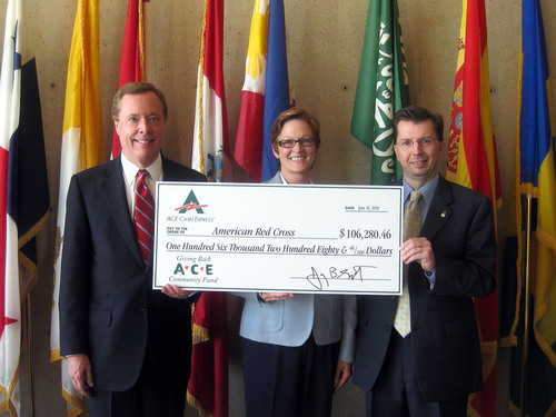 ACE Cash Express Donates $106,280 to American Red Cross at Dallas City Hall