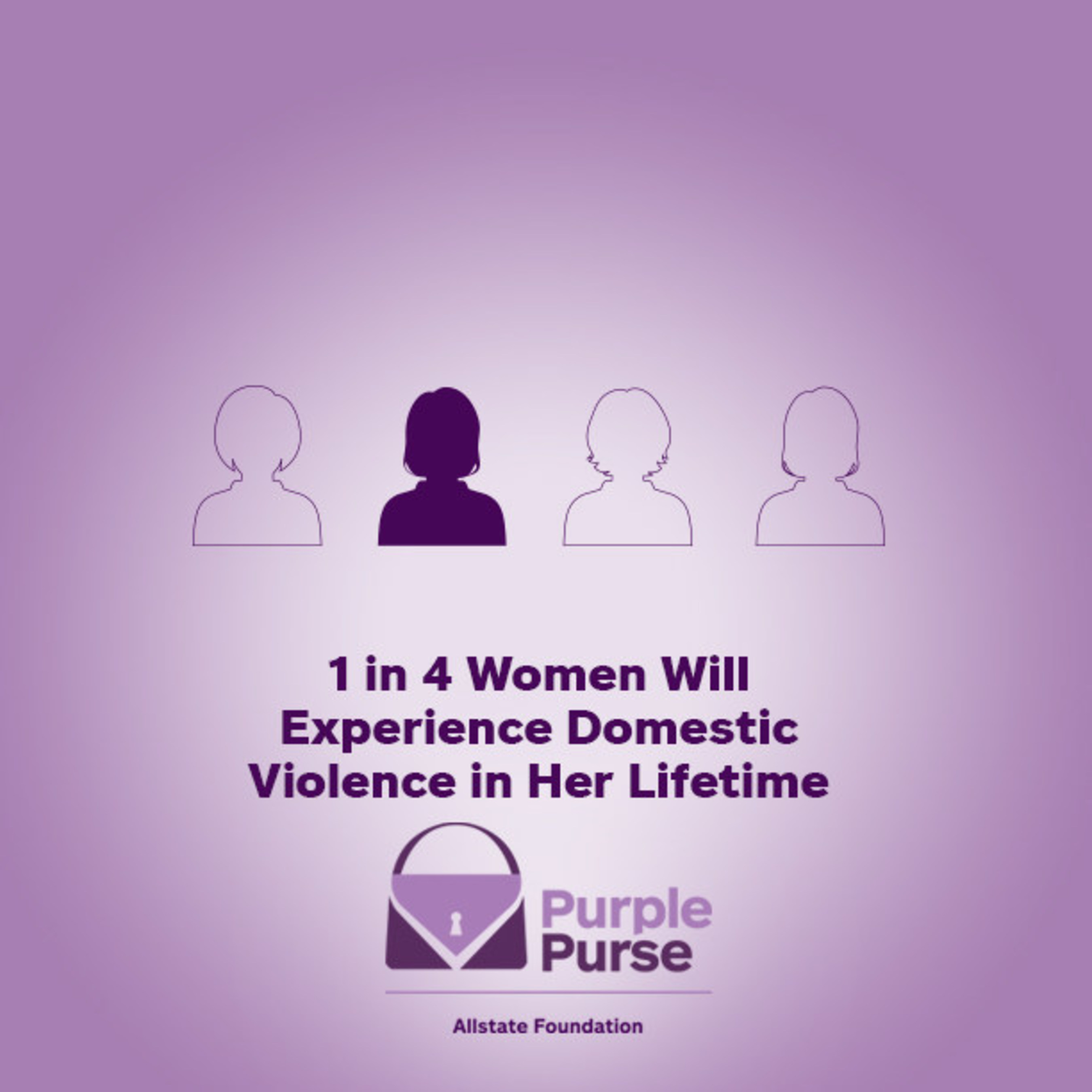 Support the Allstate Foundation Purple Purse Challenge and help put an end to domestic violence & financial abuse