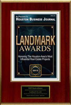 "WSP Flack & Kurtz Selected For ""Landmark Awards"".  (PRNewsFoto/WSP Flack & Kurtz)"