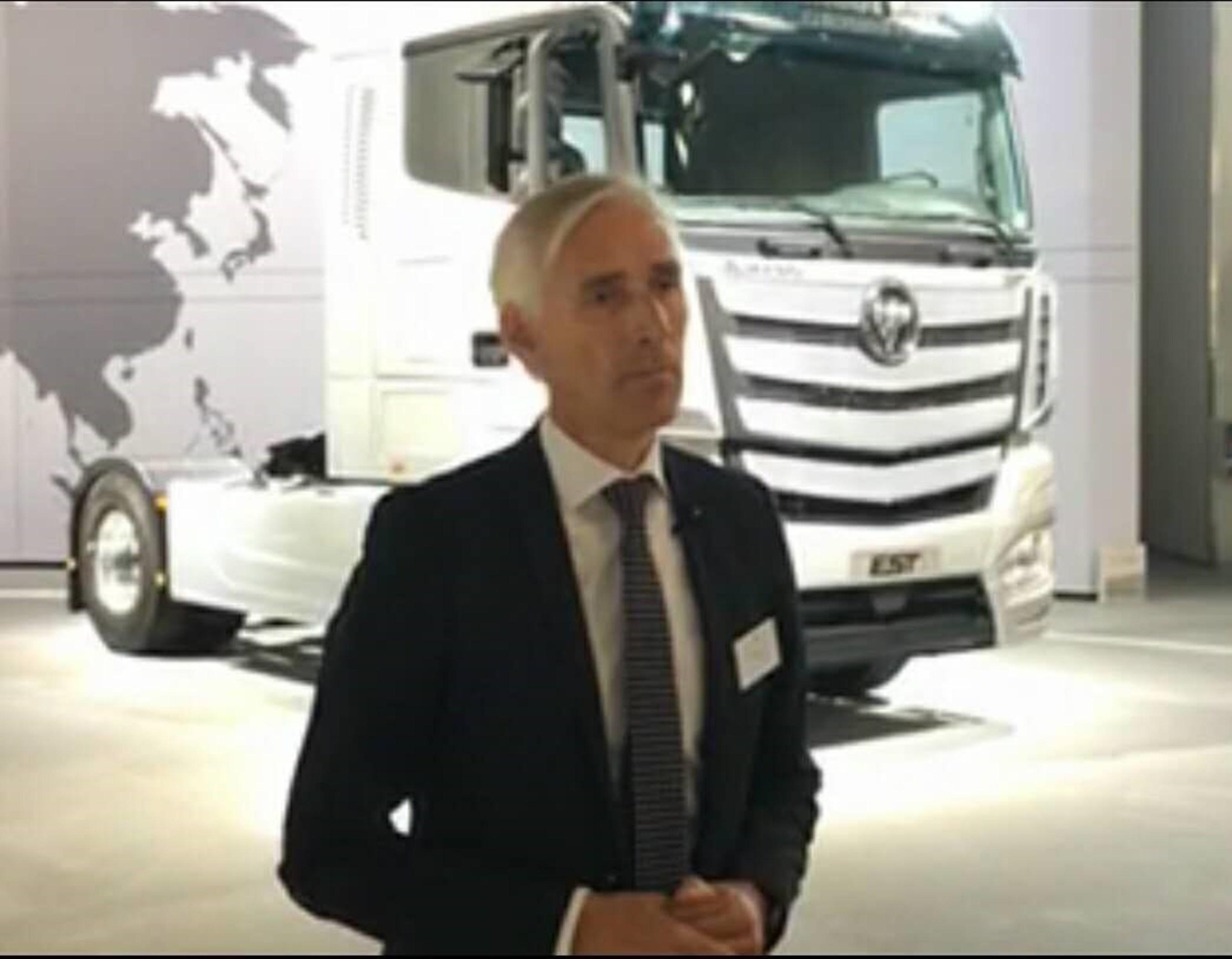 Foton Daimler Automotive Vice President of R&D Jens Hamester Accepting an Interview