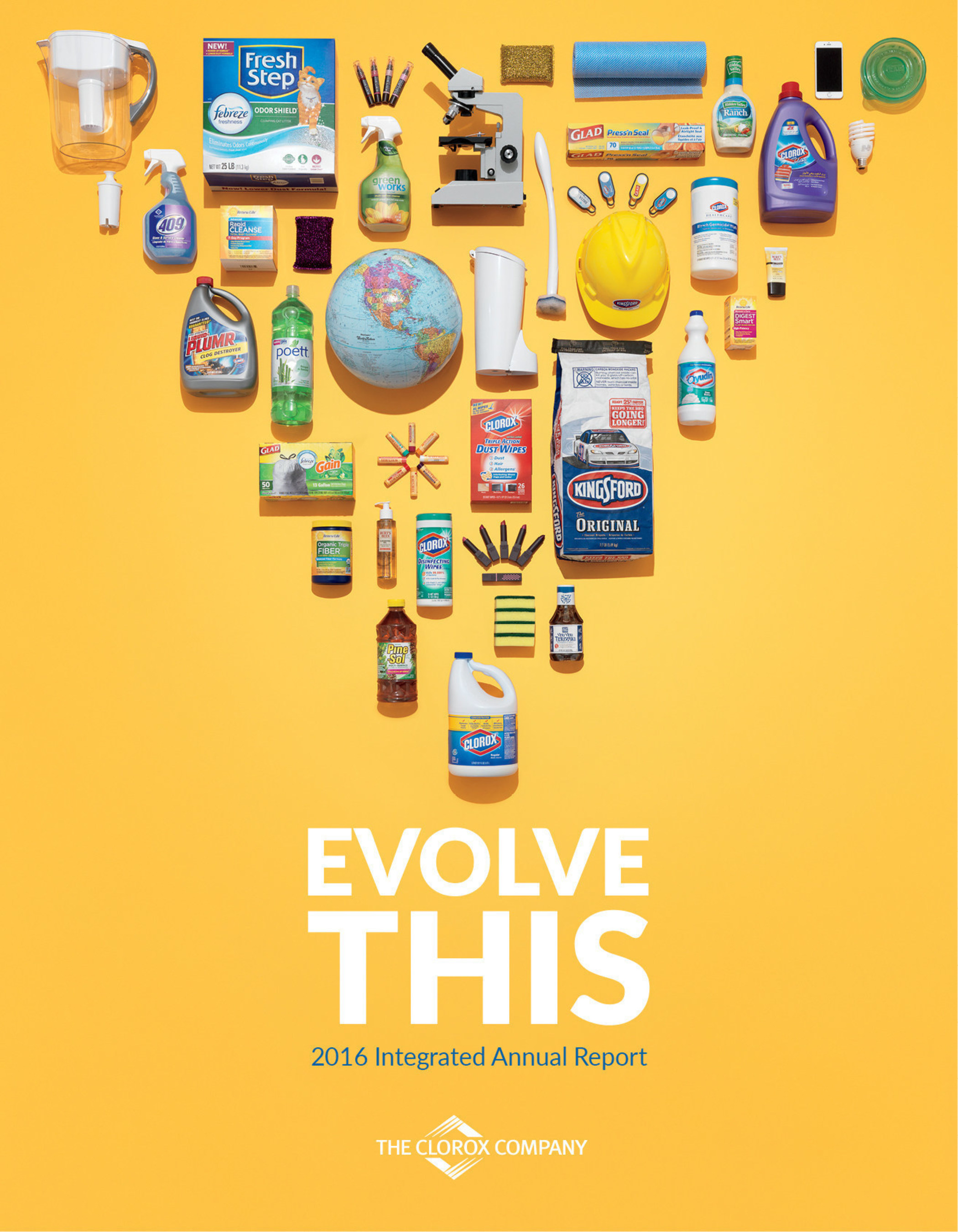 Clorox 2016 integrated annual report highlights progress against 2020 Strategy, more than a century of evolution in health and wellness.