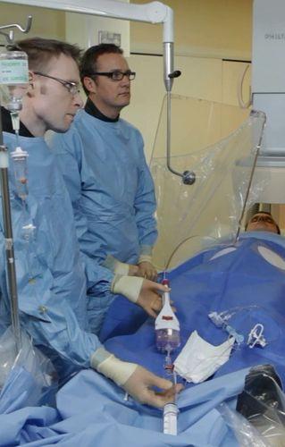 The LBS in use at Papworth Hospital (PRNewsFoto/PlaqueTec Ltd)