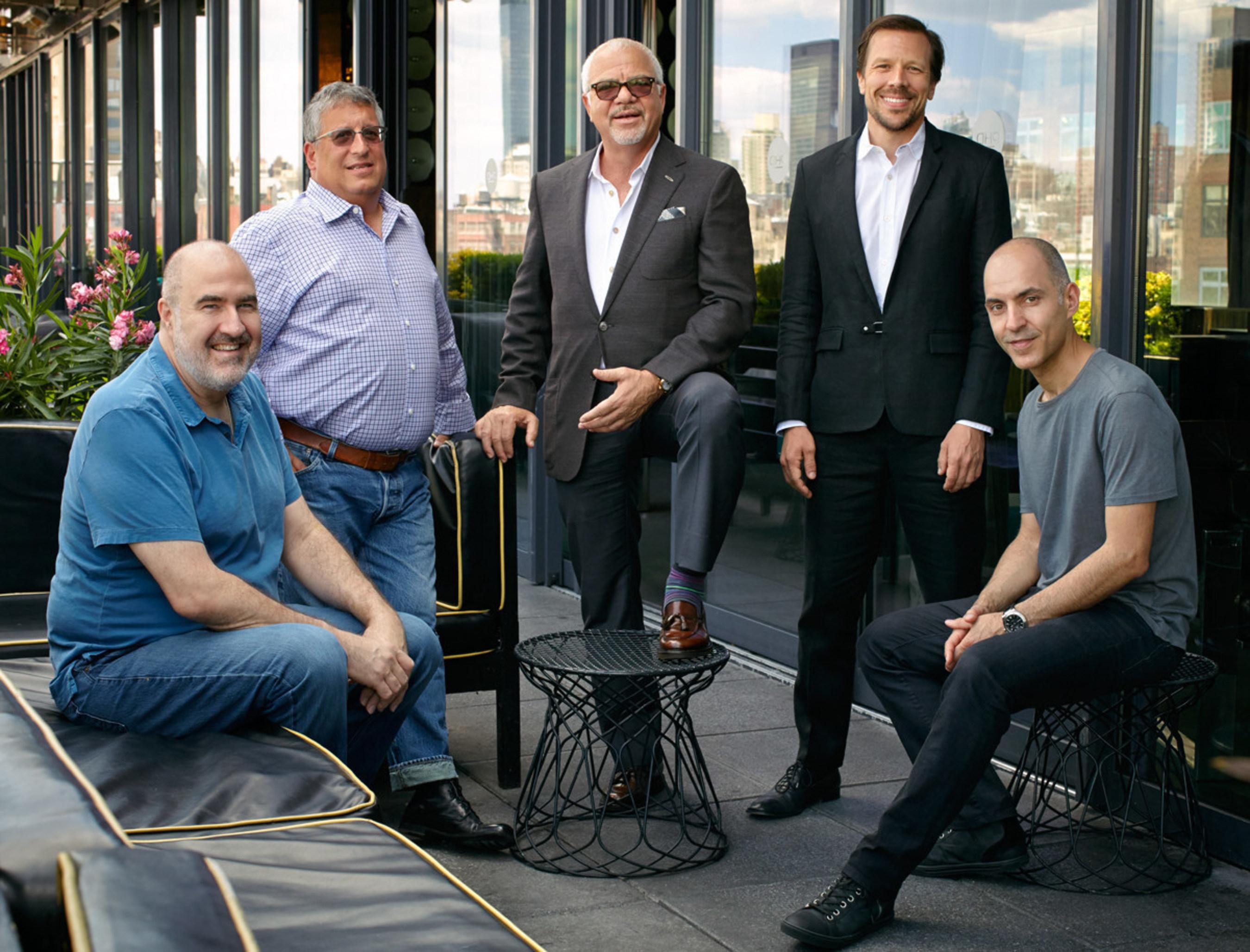 Paradigm Music Division, Left to Right: Chip Hooper, Marty Diamond, Sam Gores, Tom Windish, Paul Morris
