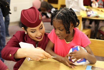 Qatar Airways visited Atlanta Public Schools' Heritage Academy to gift books as a key partner in its summer reading programme and read with elementary students
