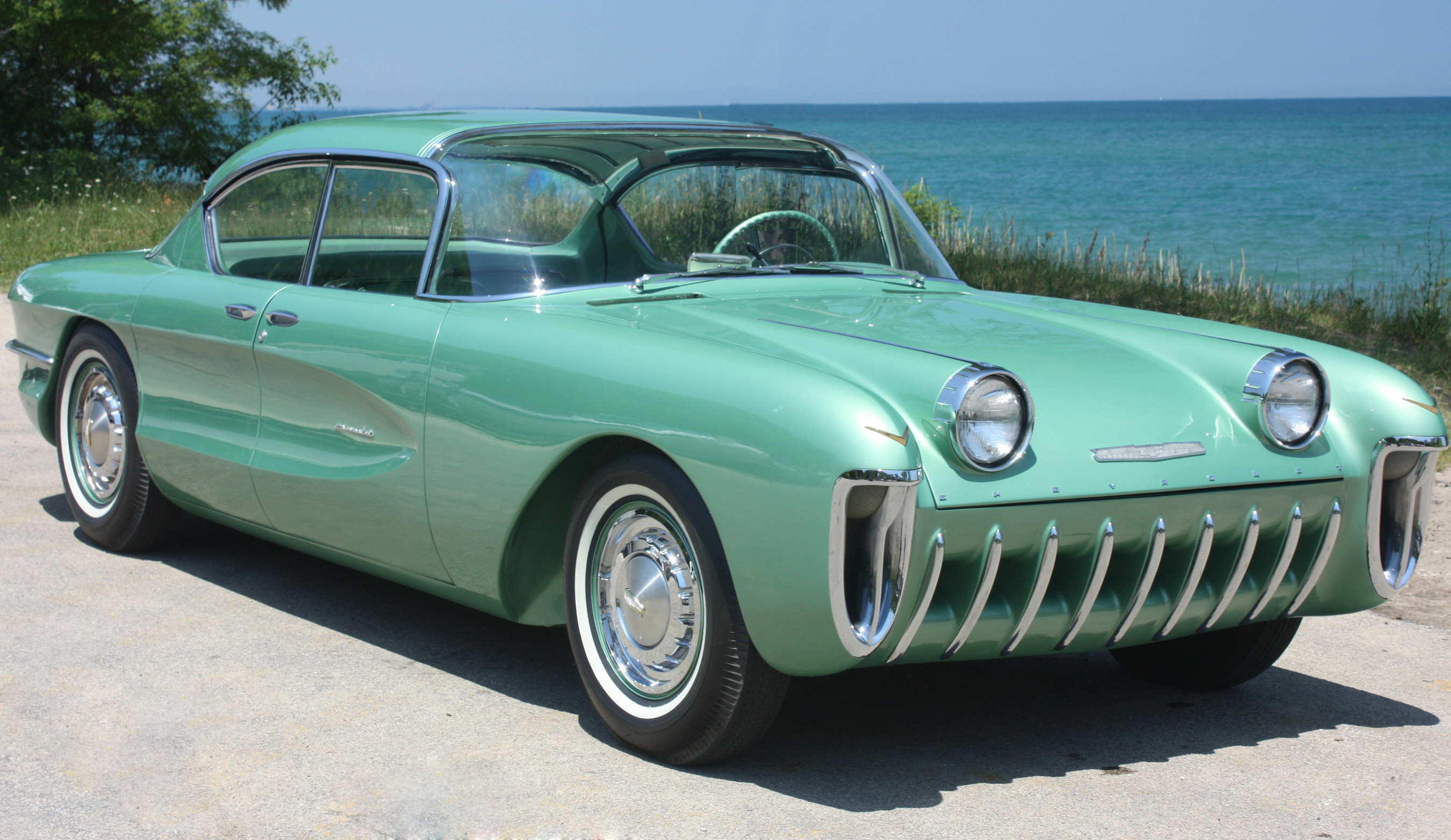 Car Museum Los Angeles >> 1955 Chevrolet Biscayne Concept Car on Display at the New Petersen Automotive Museum