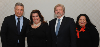 "Ovation announces ""Stand For The Arts initiative at the Americans for the Arts Action Fun reception held Monday, March 24. Pictured (l to r): Alec Baldwin, actor and arts advocate; Sonia Tower, President, Ovation Foundation; Robert Lynch, CEO, Americans for the Arts; and Nina Ozlu Tunceli, Executive Director, Americans for the Arts Action Fund. (PRNewsFoto/Ovation) (PRNewsFoto/OVATION)"