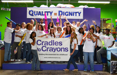 CSL Behring employees take time out from their work day to package clothes, shoes, books, toys, baby safety equipment and school supplies for thousands of children in the Philadelphia area as part of the Cradles to Crayons program. Cradles to Crayons is one of many charitable programs supported by CSL Behring and its employees throughout the year.